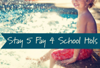 Stay 5 Pay 4 - Great Value for the April School Holidays!